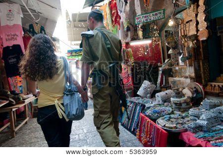 Israeli Soldier And Girlfriend
