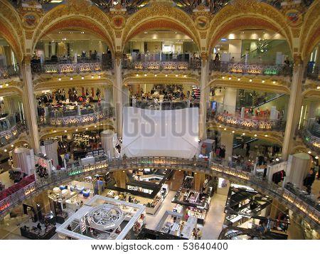 Galeries Lafayette in Paris, France