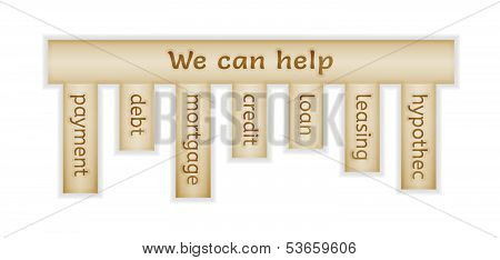 Wooden Label With We Can Help