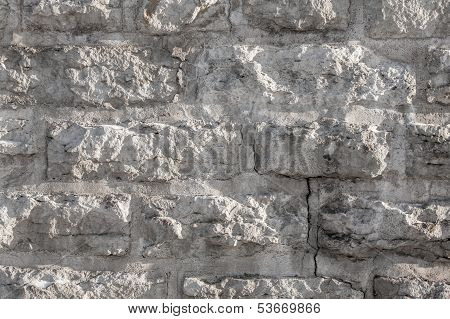 Texture Of A Rough Stone Wall Made With Blocks