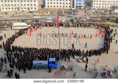 Audiences Around Watching Yangko Dance Performance