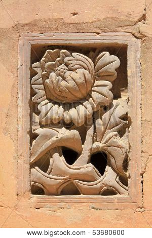 Carved Decoration On The Wall In The Eastern Royal Tombs Of The Qing Dynasty, China