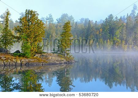 Fog And Mist At Morning In The Lake Country