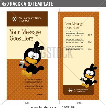4x9 Rack Card Template Vector