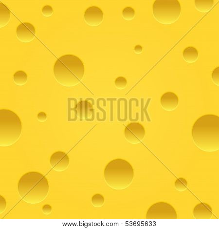 Vector cheese background. Piece of cheese.