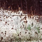 old rusted metal wall detailed texture for background poster
