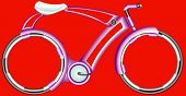 Futurist Bicycle. The perfection of the bicycle.  Futuristic extreme bike with fantastic wheels poster