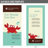 4x9 Rack Card Template (includes cropmarks, bleeds, and key line) poster
