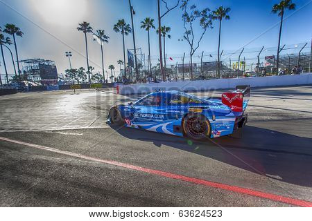 Long Beach, CA - Apr 11, 2014:  The Spirit of Daytona Corvette DP car goes on track for the TUDOR United SportsCar Championship of Long Beach at Grand Prix of Long Beach in Long Beach, CA.