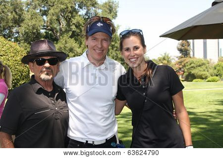 LOS ANGELES - APR 14:  Joe Pesci, Jack Wagner, BnB Guest at the Jack Wagner Anuual Golf Tournament benefitting LLS at Lakeside Golf Course on April 14, 2014 in Burbank, CA