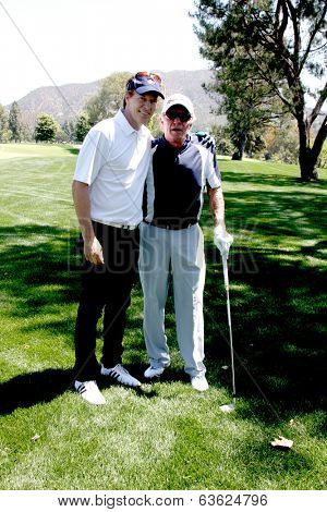LOS ANGELES - APR 14:  Jack Wagner, James Caan at the Jack Wagner Anuual Golf Tournament benefitting LLS at Lakeside Golf Course on April 14, 2014 in Burbank, CA