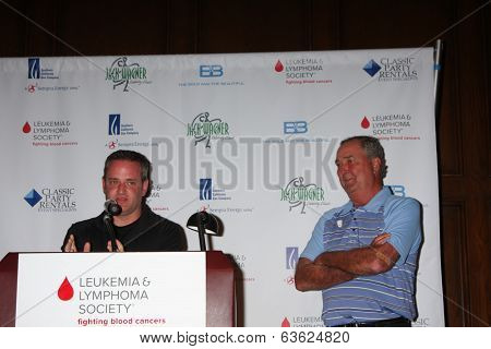 LOS ANGELES - APR 14:  Tim Curren, Dennis Wagner at the Jack Wagner Anuual Golf Tournament benefitting LLS at Lakeside Golf Course on April 14, 2014 in Burbank, CA