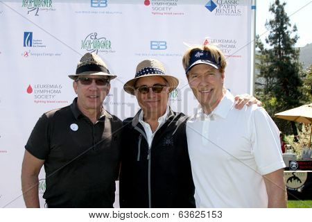 LOS ANGELES - APR 14:  Tim Allen, Andy Garcia, Jack Wagner at the Jack Wagner Anuual Golf Tournament benefitting LLS at Lakeside Golf Course on April 14, 2014 in Burbank, CA