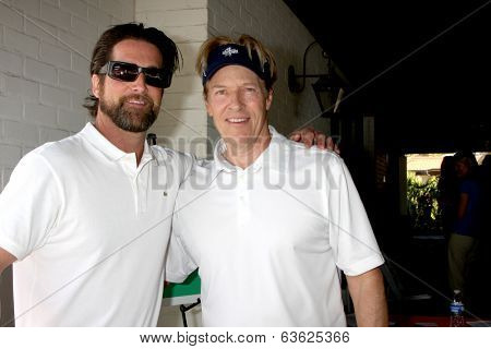 LOS ANGELES - APR 14:  Grant Reynolds, Jack Wagner at the Jack Wagner Anuual Golf Tournament benefitting LLS at Lakeside Golf Course on April 14, 2014 in Burbank, CA