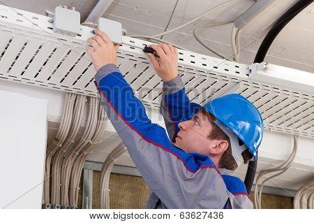 Male Worker Working In Office