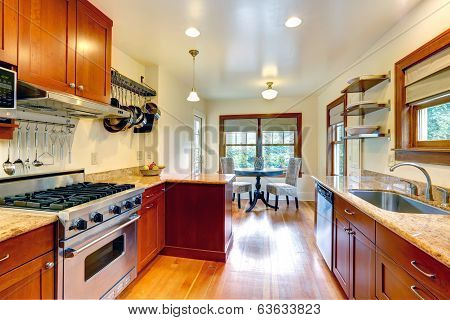 Kitchen Room With Small Dining Area