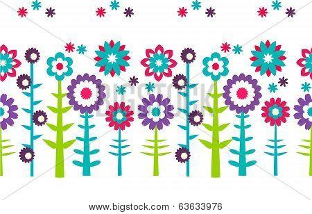 Summer flowers  pattern background