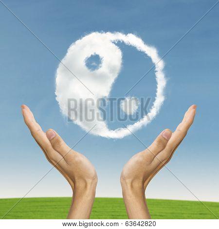 Ying Yang Symbolizing Life Balance