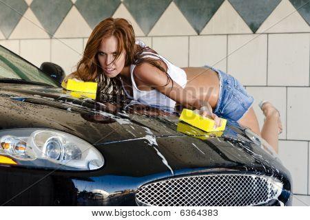 Auburn Model At The Car Wash