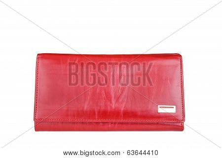 Woman Red Purse Isolated On The White Background