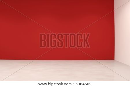 Blank Red Wall