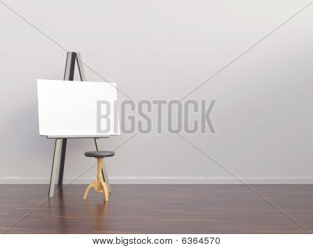Paperboard To Face A Blank Wall
