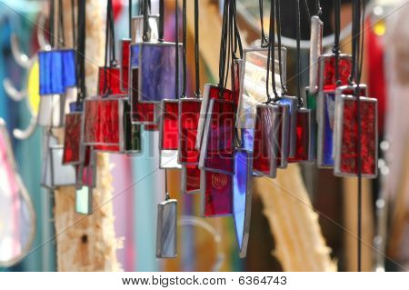 Colorful glass coulombs
