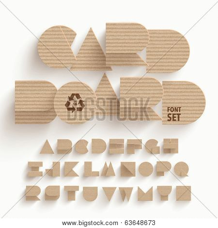 Vector Cardboard Alphabet Set