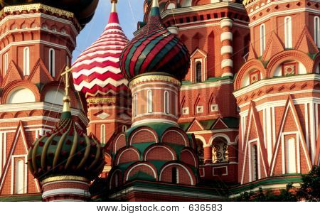 Cupola Of Stbasil Cathedral At Morning Moscow Russia2