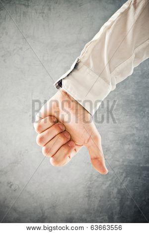 Businessman Showing Thumb Down