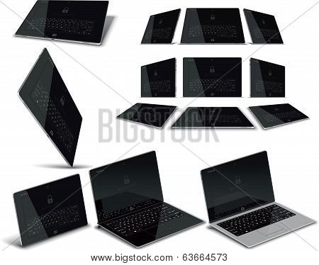 Vector Tablet Multiple Views