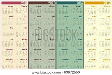 2014-2017 Calendar