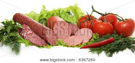 Sausage And Tomatoes Still Life