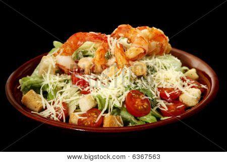 Caesar Salad With Prawns
