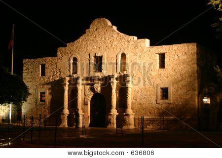 Alamo At Night