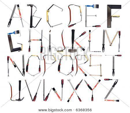 Das Alphabet gebildet von tools