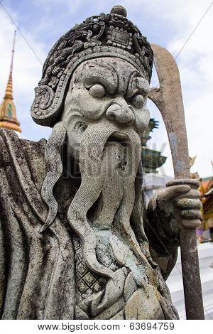 Chinese Statue At Wat Phra Kaew