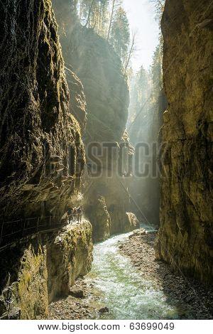 An image of the Partnachklamm at Garmisch-Partenkirchen in Bavaria Germany