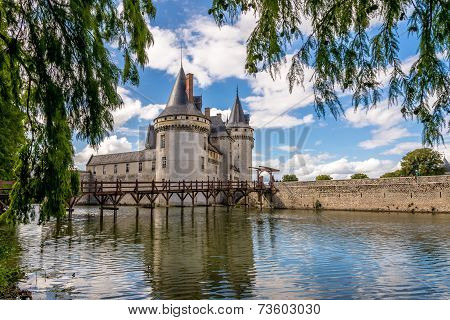 View At The Chateau Sully Sur Loire Across Moat