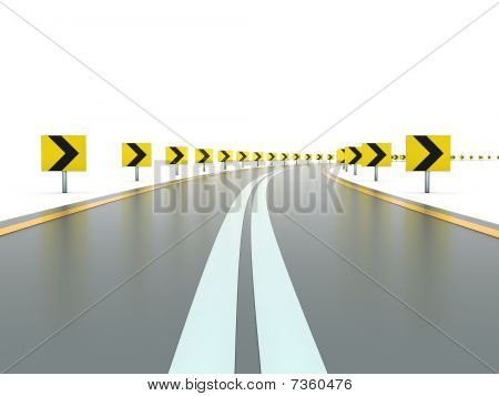 Road with signs