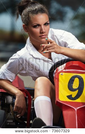 Girl point you in Karting