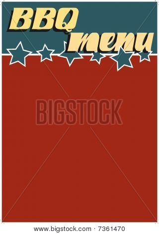 Retro bbq menu