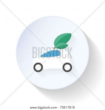 Environmentally Friendly Car Flat Icon