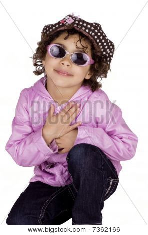 Charming Child With Sunglasses
