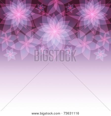 Festive Abstract Background With Flowers Lilies