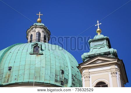 The Peterskirche (St. Peters Church) in Vienna Austria Europe. poster