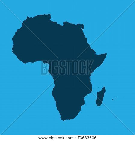 Illustration Of The Continents Of The World On White Background - Africa