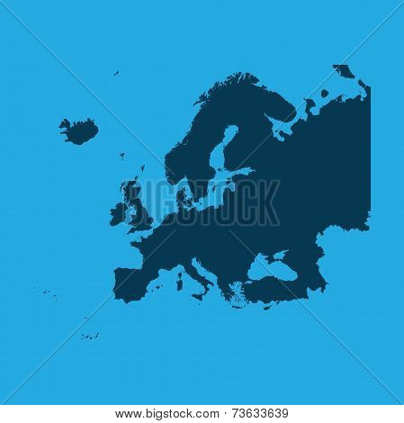 Illustration Of The Continents Of The World On White Background - Europe