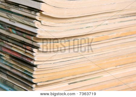 Background From A Pile Magazines.