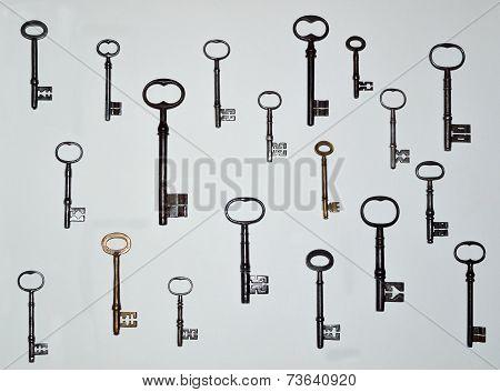 Nineteen Antique Keys